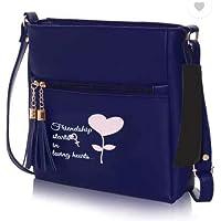 Sleema Fashion Navy Blue Women Sling Bag