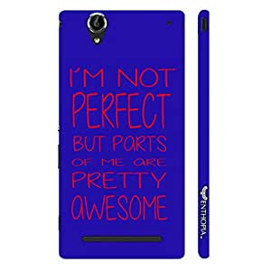 Enthopia Designer Hardshell Case I'm Not Perfect Back Cover for Sony Xperia T2 Ultra
