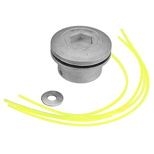 Hitommy Aluminium Gras Trimmer Kopf mit 4Nylon Linien Brush Cutter Kopf für Rasentrimmer Ersatz