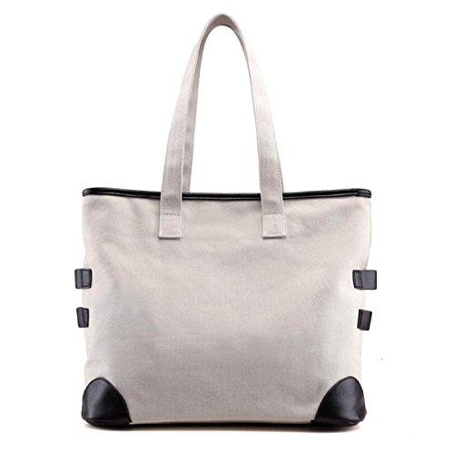 Schulter-Handtaschen-Segeltuch-Frauen Beiläufiger Beutel-Schulter-Kurier-Beutel White