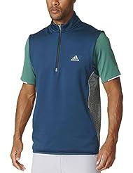La apertura 2016capas de golf de Adidas Climaheat 1/2Cremallera Chaleco para hombre chaleco de rendimiento, Utility Green