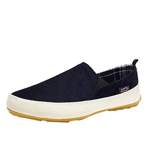 LILIGOD Männer Segeltuchschuhe Herren Flache Loafers Beiläufige Atmungsaktive Müßiggänger Leicht Einzelne Schuhe Freizeitschuhe rutschfeste Abnutzungs Faule Schuhe Herbst Flache Schuhe (Europäische Schädel-mount)