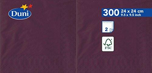 Duni 1683942lagig Tissue Servietten, 24cm x 24cm, Pflaume (2400Stück) - Tissue-papier Wirtschaft