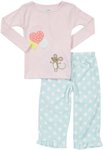 Preisvergleich Produktbild Carter's Zweiteiler Fleece girl Mädchen Schlafanzug Gr. 98 / 104 Maus Love 2 teilig pajama rosa US SIZE 4 t