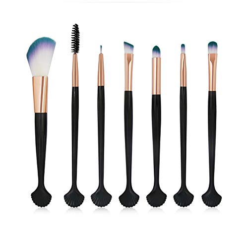 Siswong Make-up-Sets, 7 StüCk Make-Up Pinsel Set Puder Foundation Lidschatten Eyeliner Lip...
