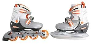 Nijdam Jungen Inline-Skates schwarz silber weiß orange 34-37