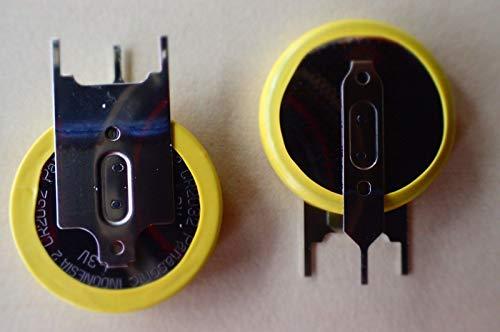 2X Panasonic CR2032/GVFN Lithium Knopfzelle Batterie mit Lötfahne 3 pin stehend 2 Cr2032 Batterien