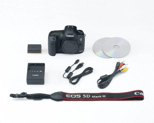 Canon EOS 5D Mark III Juego de cámara SLR 22.3MP CMOS 5760 x 3840Pixeles Negro - Cámara digital (22,3 MP, 5760 x 3840 Pixeles, CMOS, Full HD, 950 g, Negro)