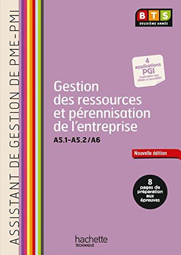 Gestion ressources (A5.1 - A5.2 et A6) BTS ASSISTANT PME-PMI - Livre lve - Ed. 2014