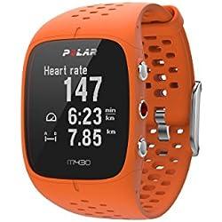 Polar M430 Reloj de Running con GPS y Frecuencia cardíaca en la muñeca - Multideporte - Actividad 24/7 - Naranja, M/L