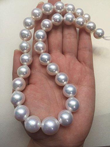 Natürliche weiße Frischwasserperlen-Weinlese-Halskette / 10-16mm