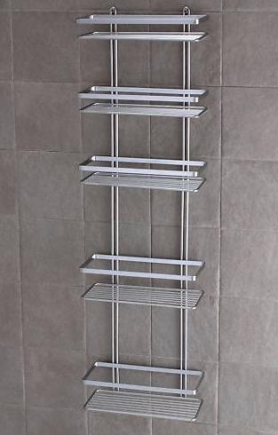 Satina - Étagère de douche à 5 niveaux Chromé