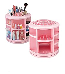 Pink Pari Rotating Makeup Organizer Jewelry Storage Box