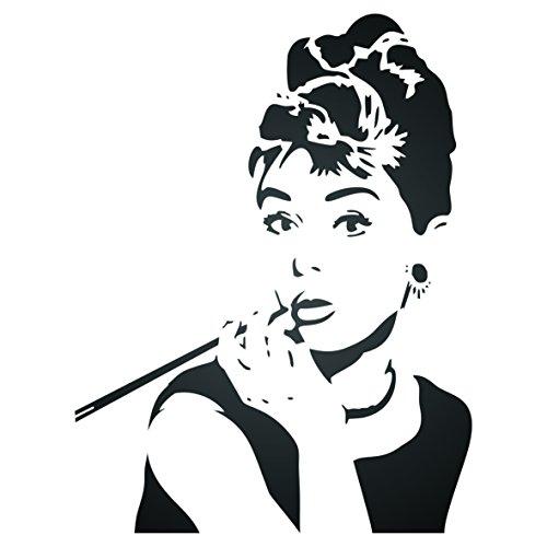 Audrey Hepburn Schablone -16.5 x 21.5cm - S