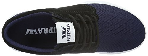Supra Unisex-Erwachsene Hammer Run Low-Top Blau (NAVY / BLACK - WHITE NVB)