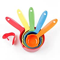 i-gadgets set Of 5 Pieces Multicolor Kitchen Cooking Baking Measuring Spoons Cups (plastic)