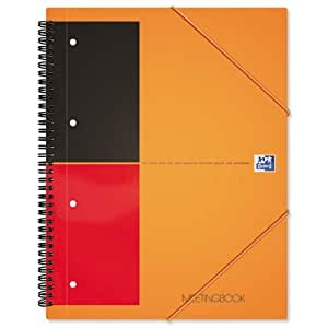 Oxford International Organiser Book 2 Wire 2 Margin Ruled 6 Extra Dividers 160pp A4+ Ref N01802P [Pack of 5]