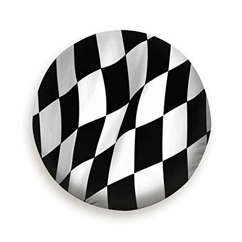 Bidetu Wellige Checker Flag Reserveradabdeckung, wasserdicht, staubdicht, verdicken Radschutzabdeckungen passen 14-17 Zoll 17 Zoll Diagonale Checker