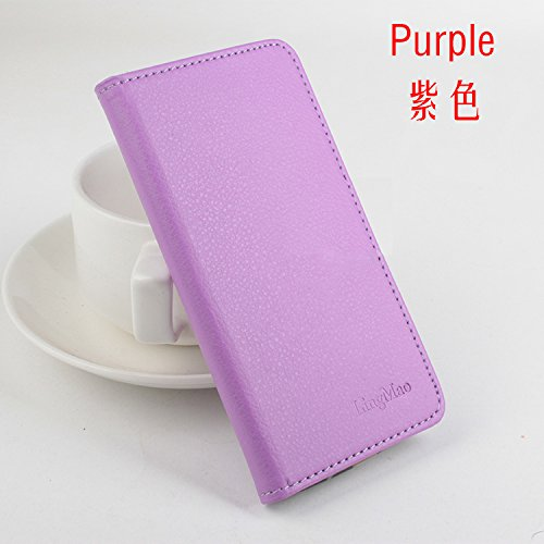 LingMao Easbuy Pu Leder Kunstleder Flip Cover Tasche Handyhülle Case Mit Karte Slot Design Hülle Etui für Cubot H1 Smartphone Handytasche