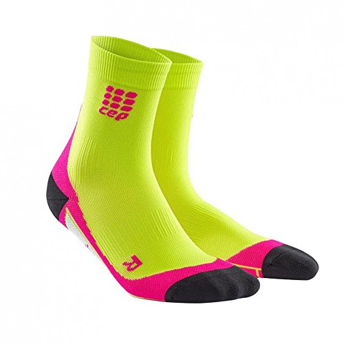 CEP Damen Dynamic Short Socken, Hellgrün, III