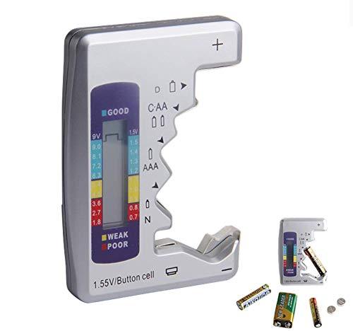 Hycy Digitale Batterie Tester Checker Batterie Kapazität Tester Für C/D / 9 V/AA / AAA / 1,5 V Lithium Batterie Netzteil Messgerät