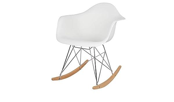 Sensational Esituro Rocking Chair White Lounge Chair Relax Chair Retro Evergreenethics Interior Chair Design Evergreenethicsorg
