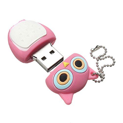 PenDrive buho - SODIAL(R) 16GB USB memoria 2.0 Palillo de memoria buho Roseo