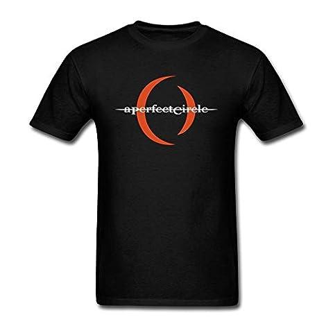 Grossbull Men's A Perfect Circle Short Sleeve T Shirt Black Medium