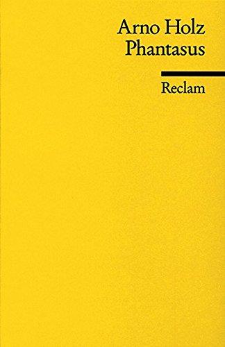 Phantasus: Verkleinerter Faksimiledruck der Erstfassung (Reclams Universal-Bibliothek)