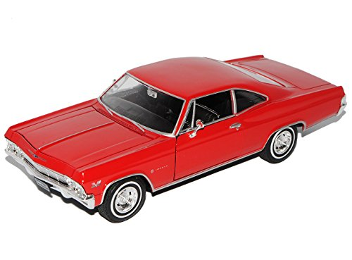 chevrolet-impala-ss396-1965-coupe-rot-1-24-welly-modell-auto