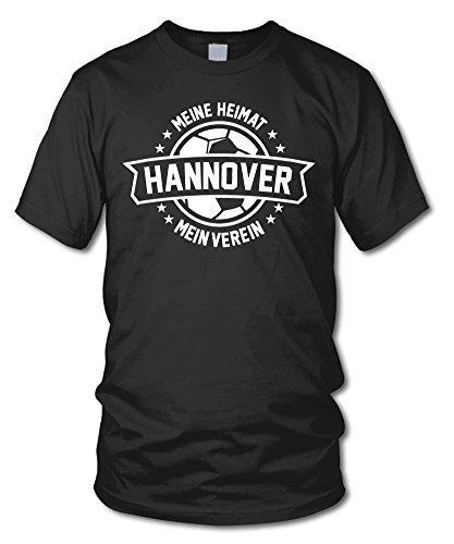 shirtloge - Hannover - Meine Heimat, Mein Verein - Fan T-Shirt - Schwarz - Größe M