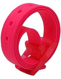 MEISHINE® Unisex Cinturón de Silicona Cinturón de Moda Hebilla ... 0e6b28a7a636