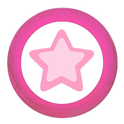 Traum Kind Möbelknopf Möbelgriff Möbelknauf Maedchen rosa pink weiß blau Massivholz Buche - Kinder Kinderzimmer Stern rosa pink maritim pink