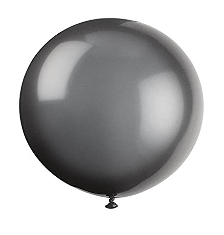 Unique Party - 56728 - Paquet de 6 Ballons Géants - Latex - 90 cm - Noir