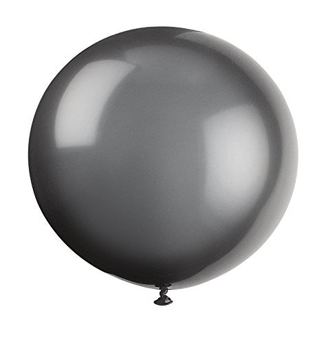 Unique Party Globos Gigantes de Látex para Fiestas, Paquete de 6, Color Negro (56728)