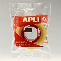 Apli 11103 - Rollo cinta adhesiva (19 mm x 33 m)