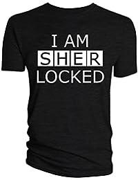 Sherlock Producto Oficial de Sherlocked I básico para BBC Dibujo de Homer e inscripción-Camiseta del Equipo de…
