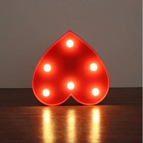 Romantischer Türrahmen herzförmiges Schild zur Tischleuchte Herz LED Nachtlicht LED Kronleuchter Deko-Akzent