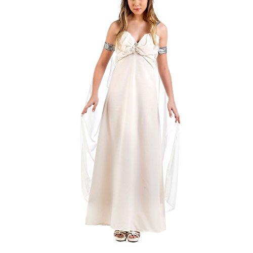 Mutter der Drachen Hochzeitskleid Sturmtochter Abendkleid Kostüm beige - (Daenerys Drachen Targaryen Kostüm)