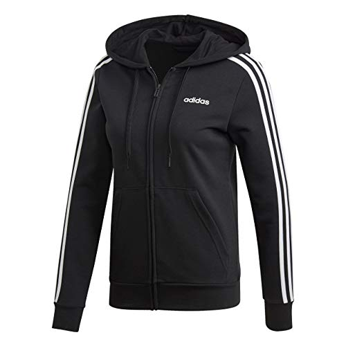 adidas Damen W E 3S FZ HD Sweatshirt Black/White M