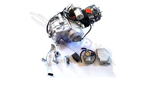 Hmparts Motor Set 125 Ccm Halbautomatik R0123 Anlasser Oben Quad Rc Atv Auto