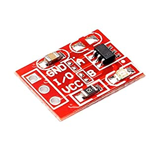 Fjiujin,2.5-5.5V TTP223 Capacitive Touch Switch Button Self Lock Module For Arduino(color:RED)