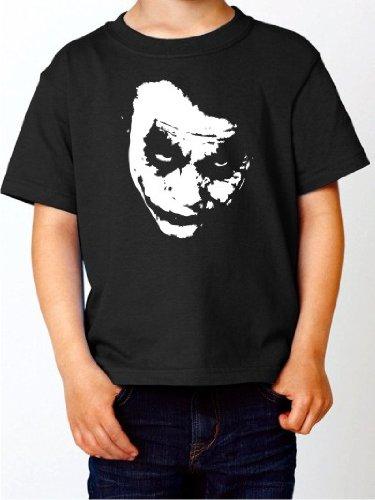 Western Junge Shirt (Kinder T-Shirt Batman JOKER Kultfilm Shirt schwarz E50-kids Gr. 140)
