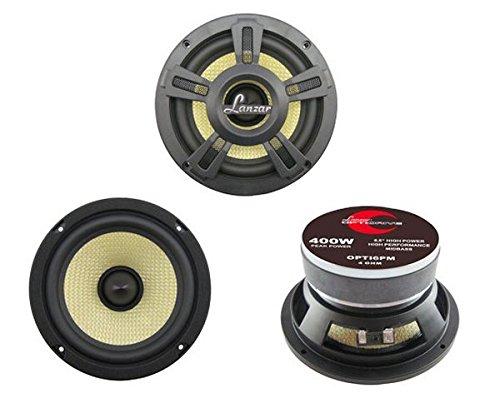 Pyle Opti Pro Leistungsstarker Koaxial-Lautsprecher (15,24 cm (6,5 Zoll), 400 Watt) (6.5 Pyle)