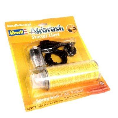 29702 - Revell Airbrush - Spray Gun Starter Class & Druckgasdose -