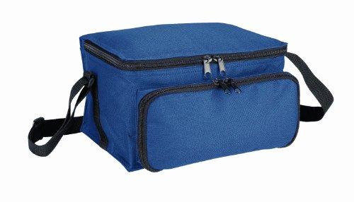 Sac isotherme avec bandoulière en nylon bleu marine-dimensions: env. 23 x 14 x 21 cm