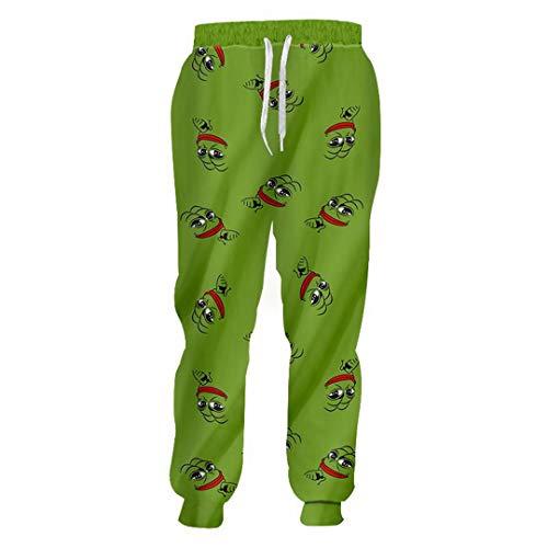 Hose Frosch 3D Print Freizeithosen Unisex Streetwear Lose Fitness Jogginghose Dollar Pants 4XL (Aeropostale Hoodies Frauen)