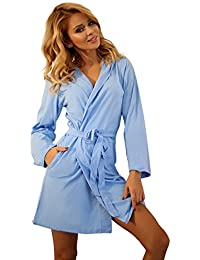Wanmar Company Girls Cotton Dressing Gown Housecoat Hooded Robe Bathrobe for  Women 848983a33