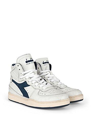 Diadora Heritage Herren High Sneaker Mi Basket Used 158569 Weiß