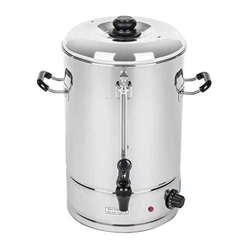 Royal Catering - RCWK 10L - Hevidor de agua de 10 Litros - 62 Tazas - max. 100 °C - 2000 W - Grifo - Indicator de nivel - Envío Gratuito